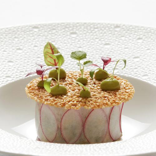 Plat restaurant L'Orchidée